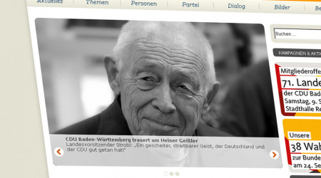 Foto: Screenshot CDU Homepage